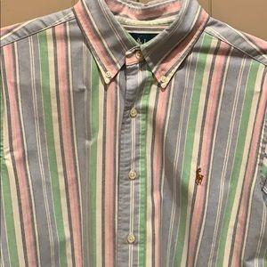Men's Polo Button Down Oxford Shirt Size M